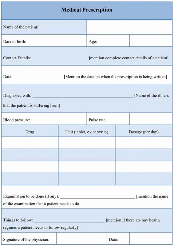 Printable Fake Prescription forms Unique Prescription Pad Template