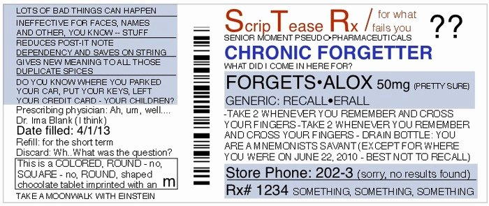 Printable Fake Prescription Labels Awesome Funny Personalized Fake Prescriptions for Modern Life by