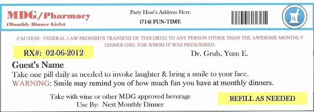 Printable Fake Prescription Labels Lovely Invite and Delight Fake An Injury Party sooo Fun