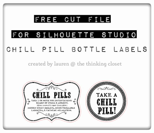 Printable Fake Prescription Labels Unique Chill Pills Gag Gift & Free Printable Labels the