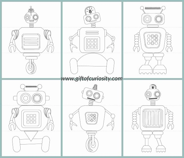 Printable Flip Book Template Luxury Flip A Robot Free Printable Activity Book