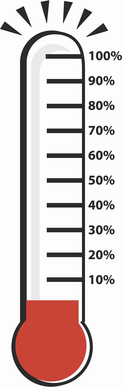 Printable Fundraiser thermometer Elegant Fundraising thermometer Printable