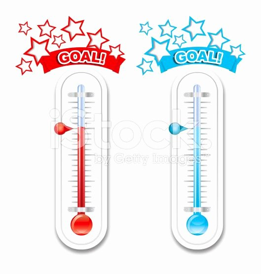 Printable Fundraiser thermometer Inspirational Fundraiser Goal thermometers Royalty Free Stock Vector Art