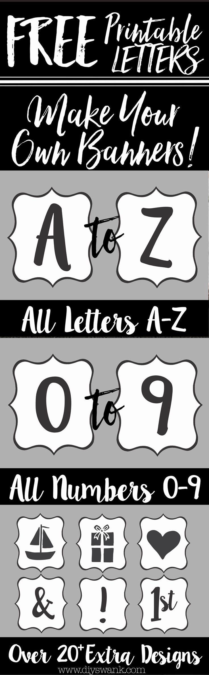 Printable Letter Banners Awesome Best 25 Printable Banner Letters Ideas On Pinterest