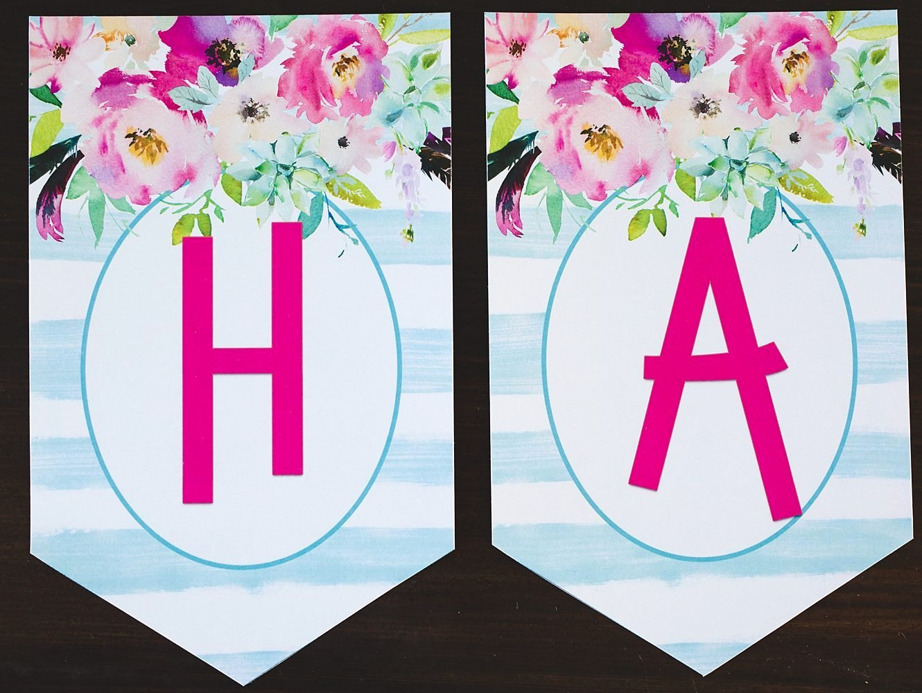 Printable Letter Banners Awesome Free Printable Birthday Banner Six Clever Sisters