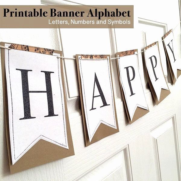 Printable Letter Banners Best Of Printable Full Alphabet for Banners