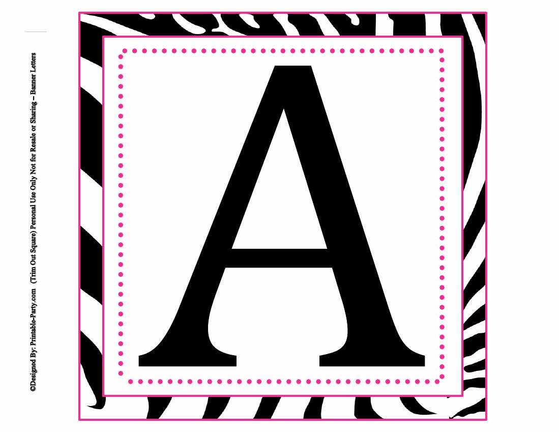 Printable Letter Banners Lovely 8x8 Inch Square Printable Alphabet Letters
