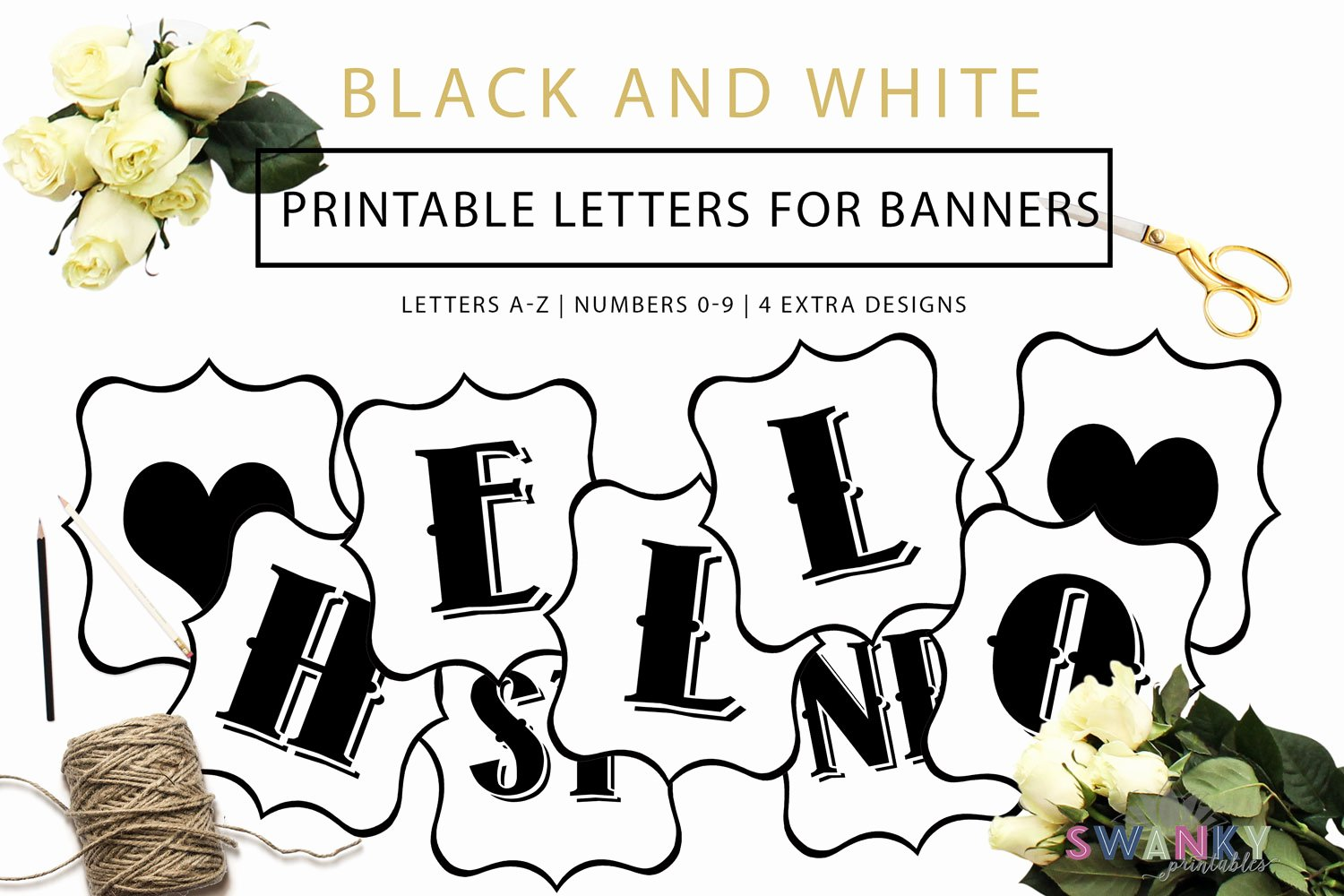 Printable Letter Banners Lovely Free Printable Black and White Banner Letters