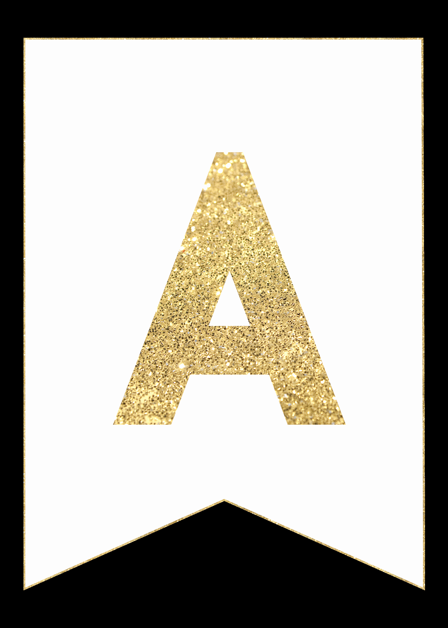 Printable Letter Banners New Gold Free Printable Banner Letters Paper Trail Design