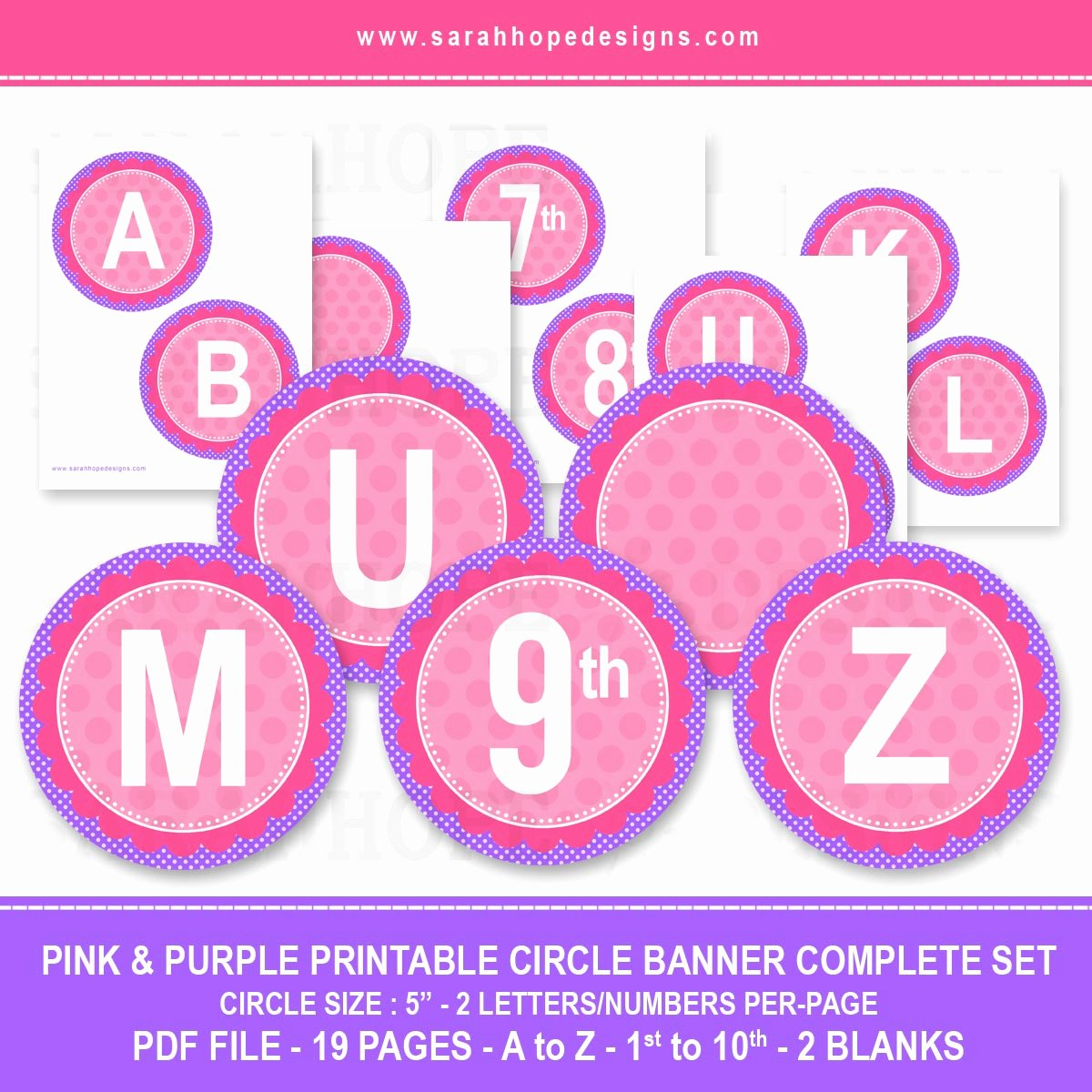Printable Letter Banners New Spell Out Anything with these Free Alphabet Circle Banners
