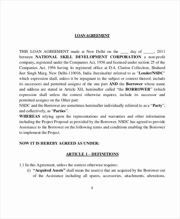 Printable Loan Agreement Best Of 35 Loan Agreement forms In Pdf