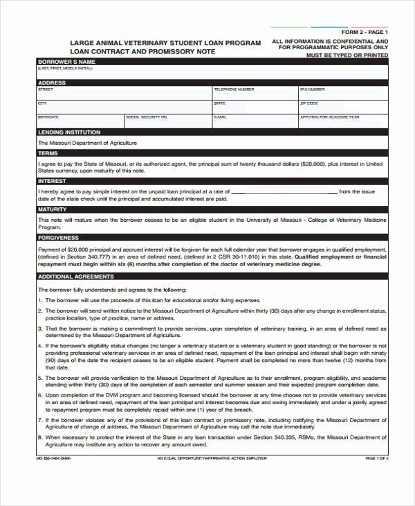 Printable Loan Agreement Luxury 40 Printable Loan Agreement forms