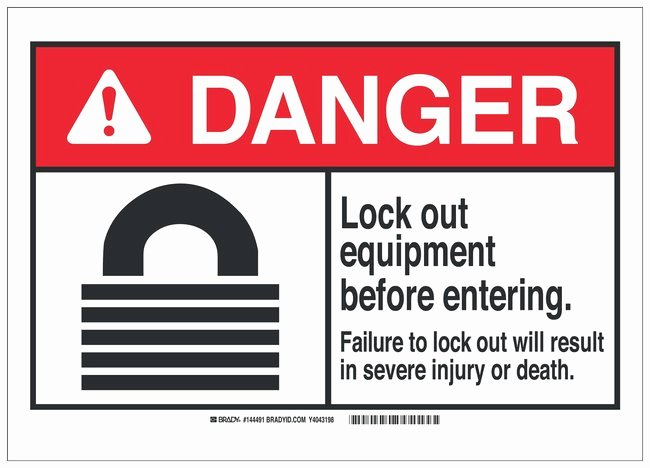 Printable Lock Out Tag Out Tags Best Of Brady Polyester Adhesive Lockout Tagout Sign Lock Out