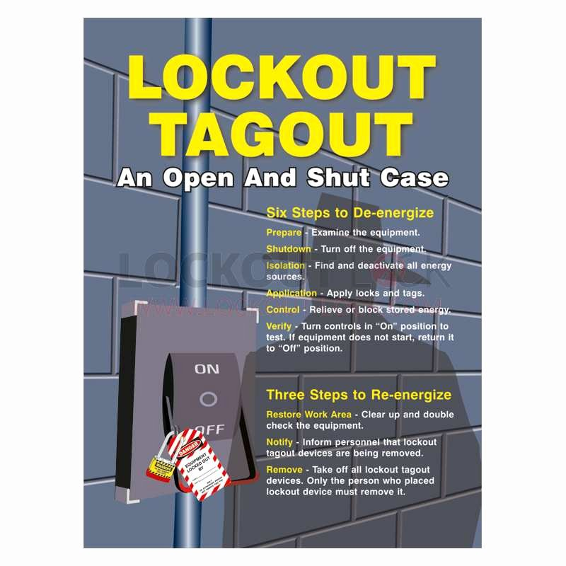 Printable Lock Out Tag Out Tags Best Of Lockout Tagout Poster An Open and Shut Case