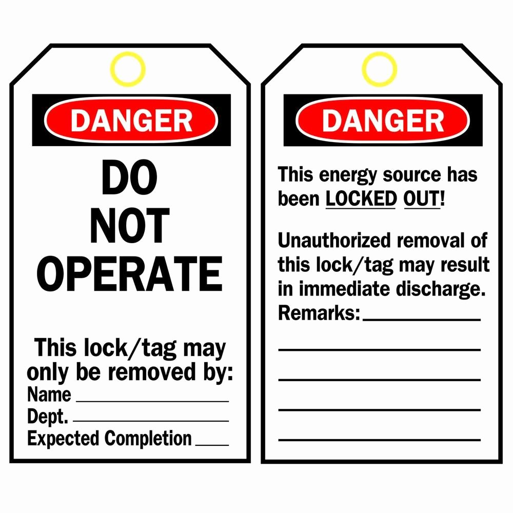 Printable Lock Out Tag Out Tags Lovely Brady Economy Polyester Lockout Tags the Home Depot