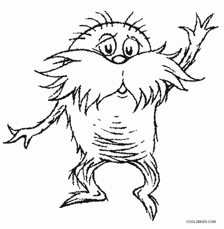 Printable Lorax Mustache and Eyebrows Best Of Printable Lorax Coloring Pages for Kids