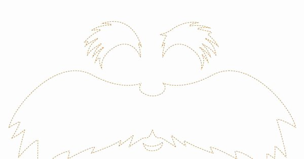 Printable Lorax Mustache and Eyebrows New Lorax Face Cut Out Kids Bday Parties Pinterest