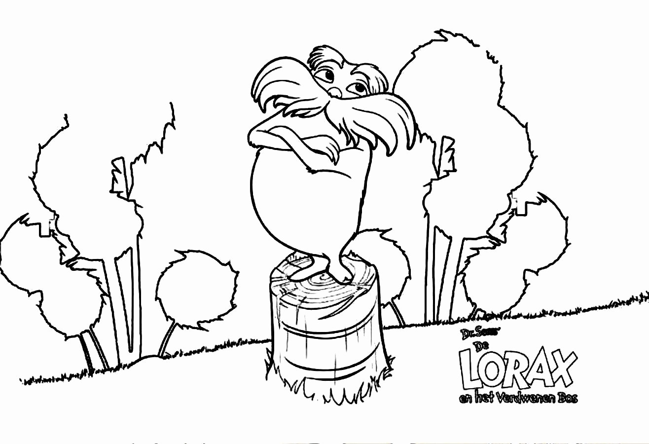 Printable Lorax Mustache and Eyebrows Unique Free Coloring Pages