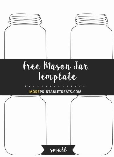 Printable Mason Jar Template Awesome Free Mason Jar Template Small