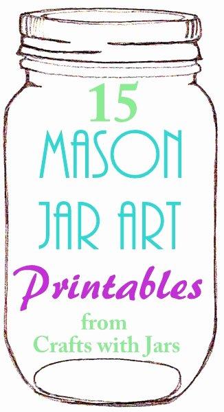 Printable Mason Jar Template Beautiful Crafts with Jars Printable Mason Jar Art