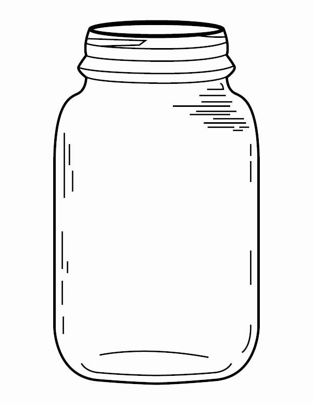 Printable Mason Jar Template Beautiful Mason Jar Coloring Page