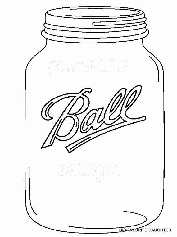 Printable Mason Jar Template Fresh Mason Jar Drawing Template at Getdrawings