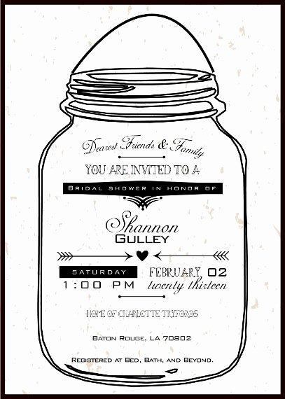 Printable Mason Jar Template Inspirational Mason Jar Printable Invitations Negocioblog