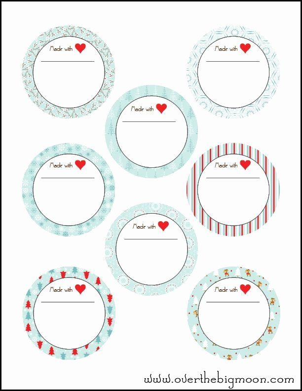 Printable Mason Jar Template New Holiday Jar Labels Craft Ideas