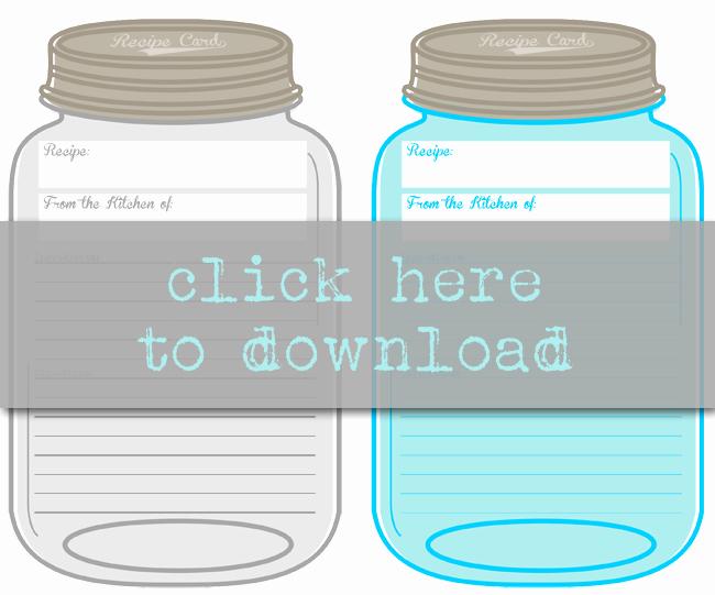 Printable Mason Jar Template Unique Free Printable Mason Jar Recipe Cards