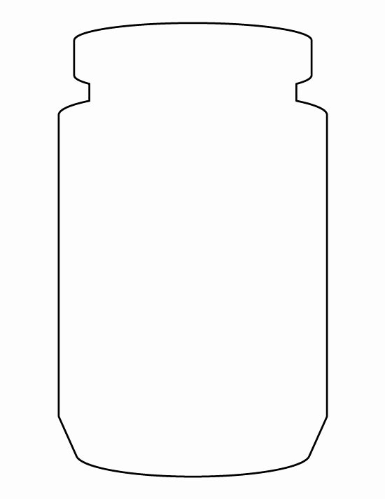 Printable Mason Jar Templates Beautiful Jar Pattern Use the Printable Outline for Crafts