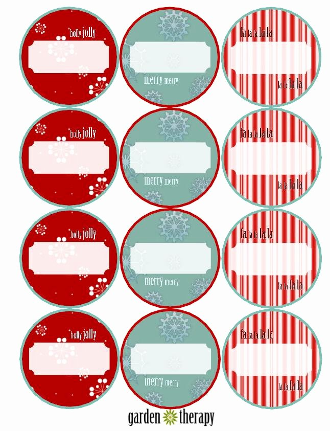 Printable Mason Jar Templates Elegant Last Minute Holiday Gifts and Printable Gift Tags Garden