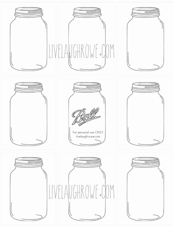 Printable Mason Jar Templates Elegant Microsoft Word Jars for Craftingcx