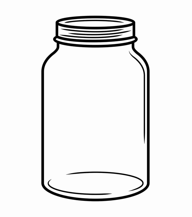 Printable Mason Jar Templates Fresh Mason Jar Clipart with Transparent Background Clip Art