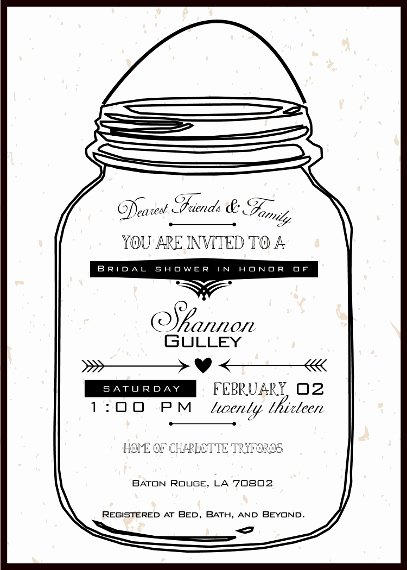 Printable Mason Jar Templates Fresh Mason Jar Printable Invitations Negocioblog