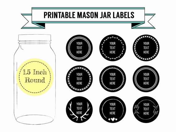 Printable Mason Jar Templates Inspirational Printable Diy Chalkboard Mason Jar Labels Canning Labels 9