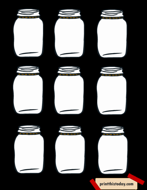 Printable Mason Jar Templates New Free Printable Mason Jar Tags for Homemade Products