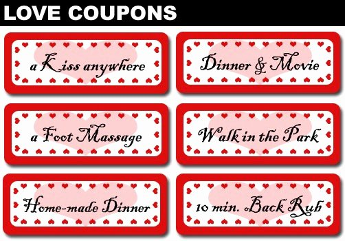 Printable Massage Coupons Beautiful 4 Girls 14 Days Of Valentine S Day Three