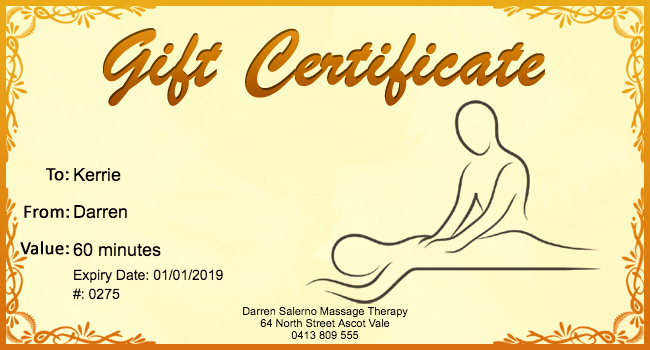 Printable Massage Coupons Best Of Free Massage Gift Certificate Template 01 Gift Template