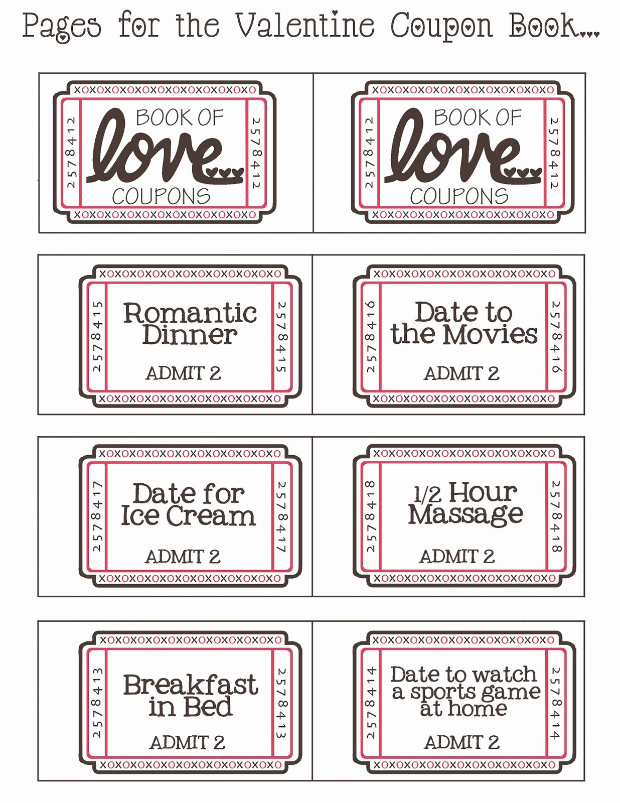Printable Massage Coupons Inspirational Mommy by Day Crafter by Night Free Printable Valentine
