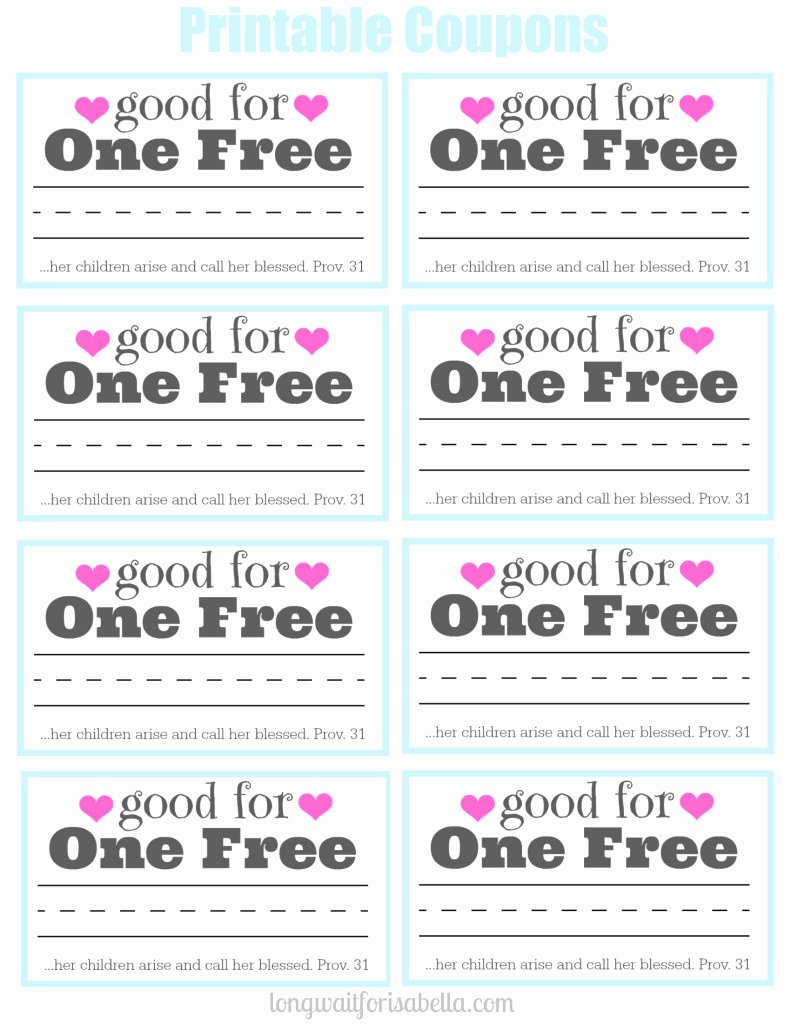 Printable Massage Coupons Inspirational Printable Coupon Book for Mom