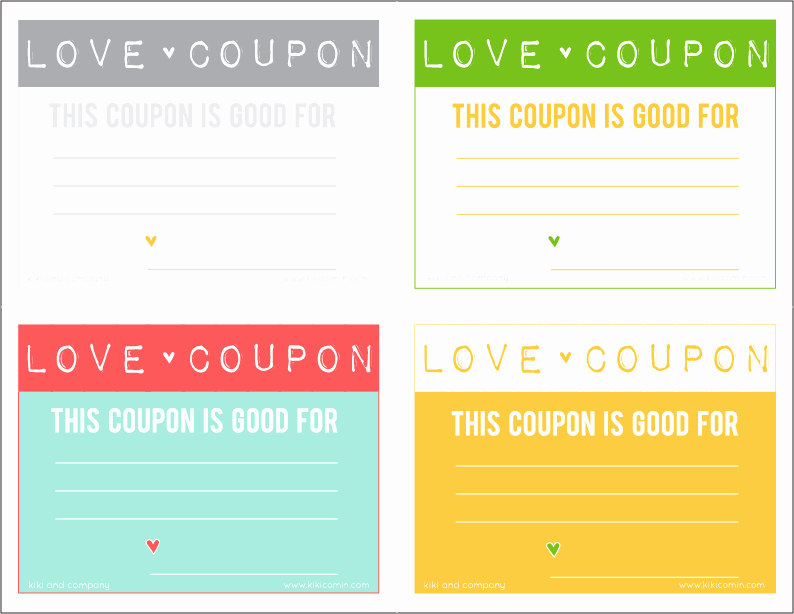 Printable Massage Coupons New Love Coupons Free Download Kiki & Pany