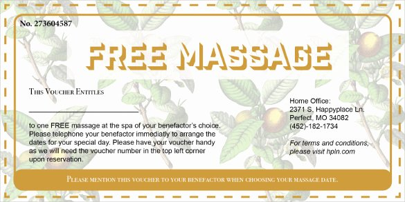 Printable Massage Coupons Unique 21 Massage Voucher Templates Psd Ai Word