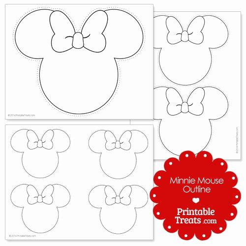 Printable Minnie Mouse Head Awesome Printable Minnie Mouse Outline — Printable Treats