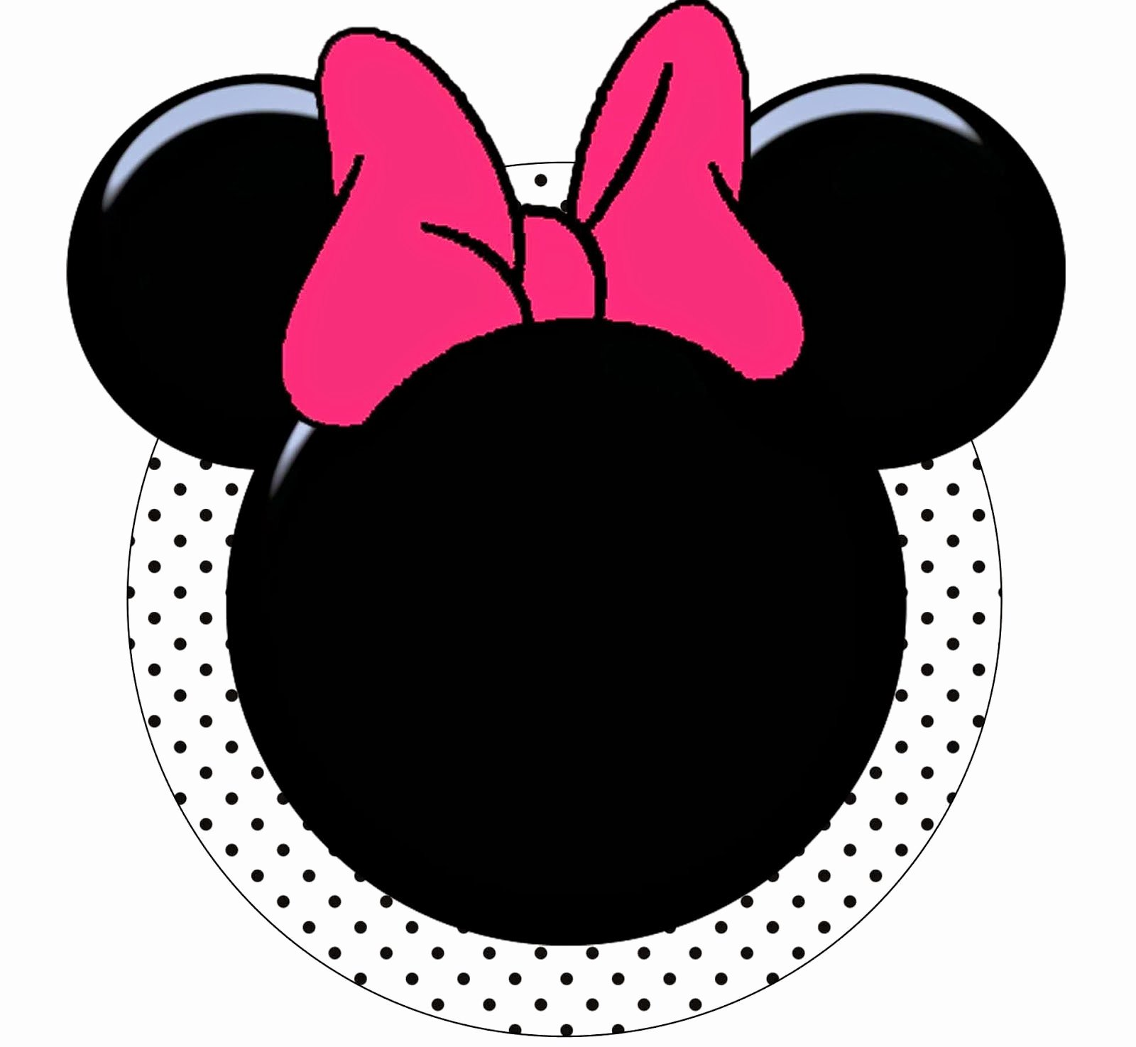 Printable Minnie Mouse Head Lovely Minnie Mouse Ears and Bow Template Free
