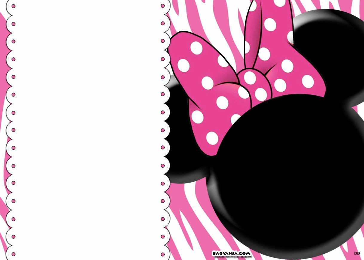 Printable Minnie Mouse Head Luxury Free Printable Minnie Mouse Birthday Invitations – Free