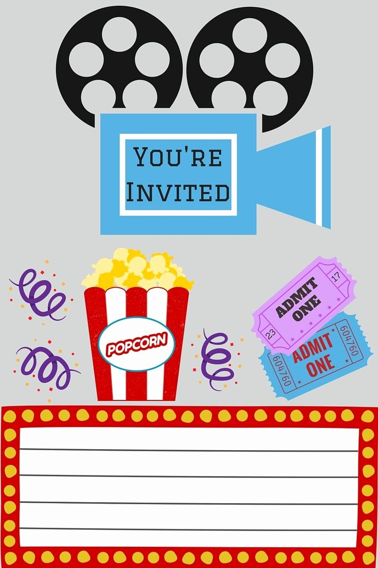 Printable Movie Ticket Invitations Elegant Best 25 Movie Party Invitations Ideas On Pinterest