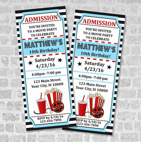Printable Movie Ticket Invitations Lovely Blank Movie Ticket Invitation Template Free Download Aashe