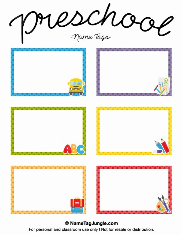 Printable Name Tags for Preschool Awesome Free Printable Preschool Name Tags the Template Can Also