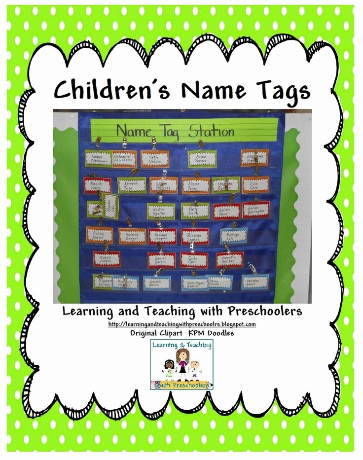 Printable Name Tags for Preschool Beautiful 17 Best Ideas About Preschool Name Tags On Pinterest