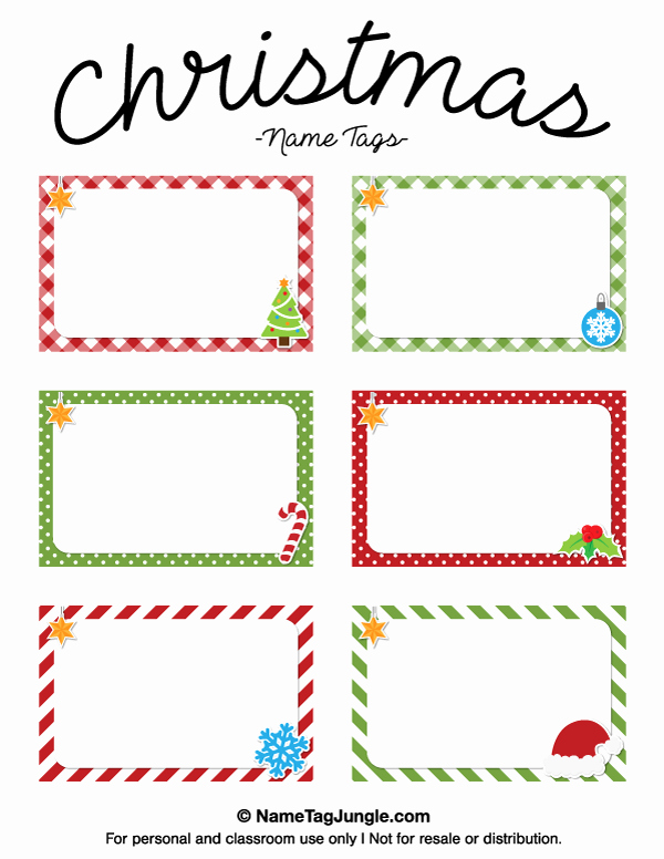 Printable Name Tags for Preschool Best Of Free Printable Christmas Name Tags the Template Can Also